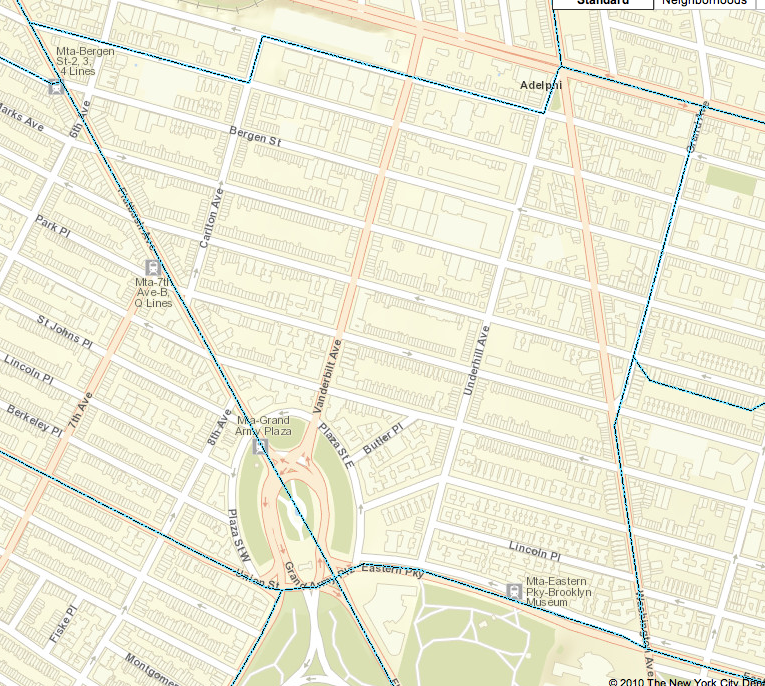 a street map of the PS9's school zone